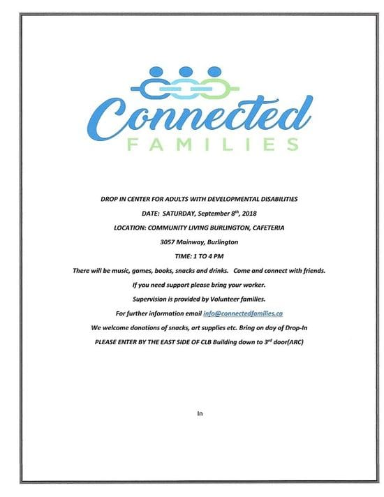 New!!!! Connected Families DROP-IN CENTRE